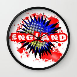 England Comic Exclamation Wall Clock