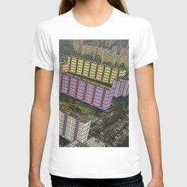 Colorful Block Buildings - Bekasmegyer - Budapest T-shirt