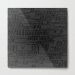 STRIPES PATTERN BLACK Metal Print