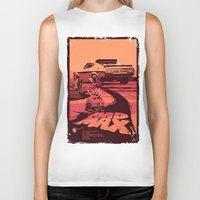 my mad fat diary Biker Tanks featuring Mad Max by Mike Wrobel