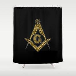 Freemason (Black & Gold) Shower Curtain