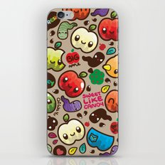 Apple Pattern iPhone Skin