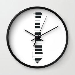 Piano Keyboard Tie Funny Boy Man Wall Clock