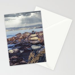 Rock Balancing At The Beach Stationery Cards