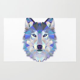 Colorful Wolf Rug