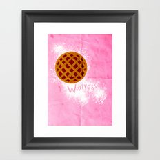 WAITRESS Minimal Musical design Framed Art Print