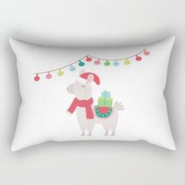 Christmas llamas V Rectangular Pillow