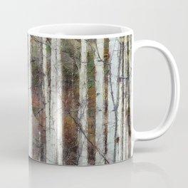Northern Birch Forest Painting Coffee Mug