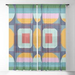 Funky Groovy Mega Disco Sheer Curtain