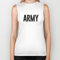 army Biker Tanks featuring Army by Oliver Lance Kerr
