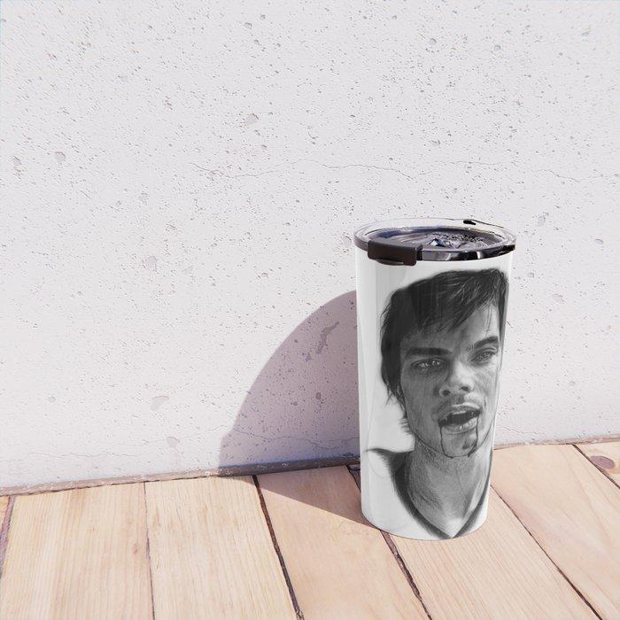 Damon Salvatore Drawing Travel Mug