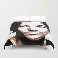 louis tomlinson Duvet Covers featuring LOUIS TOMLINSON Vector Portrait by LsArtistry