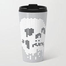 Skull Tile Metal Travel Mug