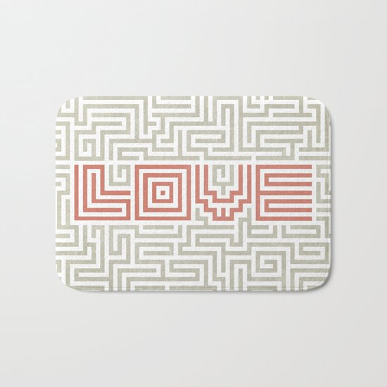 Love game Bath Mat