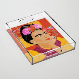 Frida - a colorful mind Acrylic Tray