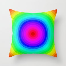 Rainbow Circle Throw Pillow