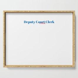 Happy Deputy Court Clerk Serving Tray