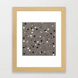 Molecular Pattern Framed Art Print