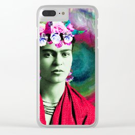 Frida Love's Freeda Clear iPhone Case