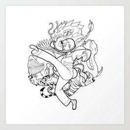 NG Mui Art Print