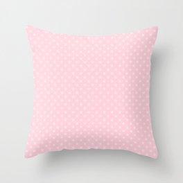 Light Soft Pastel Pink Stars Throw Pillow