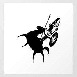 African Rider Art Print