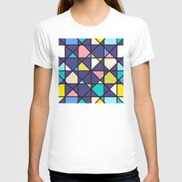 Geometric Architectural Design Kaleidoscope Colored Pattern T-shirt
