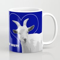 totes Mugs featuring Totes Ma Goats - Blue by BACK to THE ROOTS