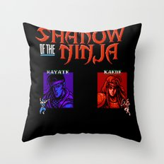 Shadow of the Ninja- Blue Shadow Throw Pillow