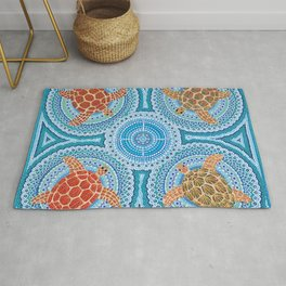 Flying Turtles Rug