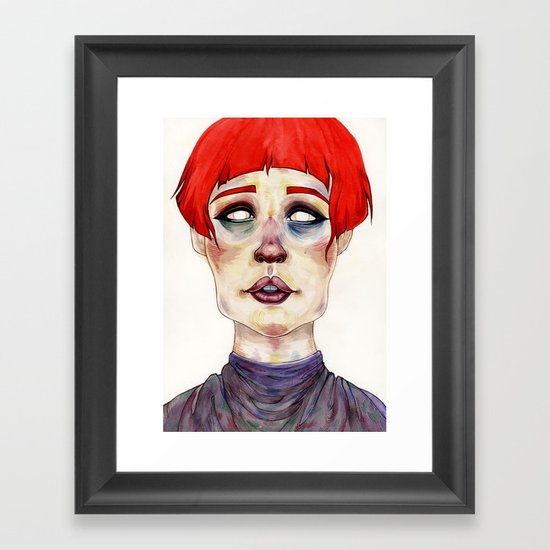 Riza Framed Art Print