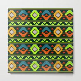 Geometric Navajo Metal Print