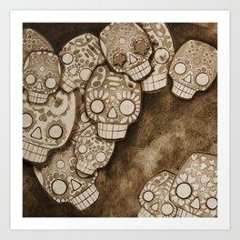 skull fresco Art Print