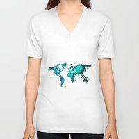 maps V-neck T-shirts featuring maps by StraySheep