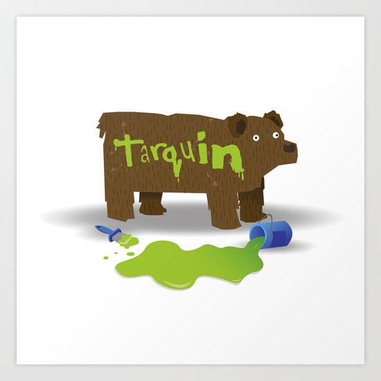 """Gotta stop painting those Bears""  Art Print"