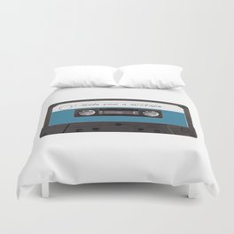 I made you a mixtape | Mix Tape Graphic Design Duvet Cover
