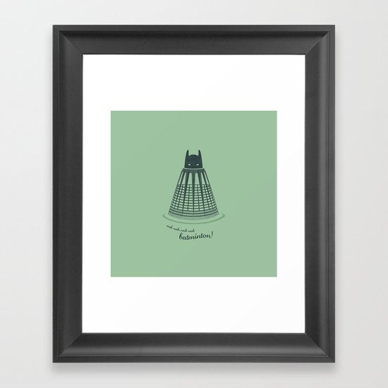 Batminton Framed Art Print