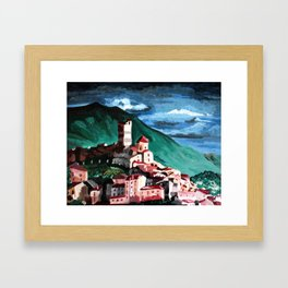 Small town in Italy Framed Art Print
