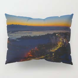 Contrast at Dusk/Clear Sky and Lake Effect (Chicago Sunrise/Sunset Collection) Pillow Sham