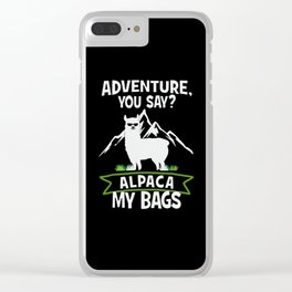 Alpaca My Bags  Travelling Clear iPhone Case