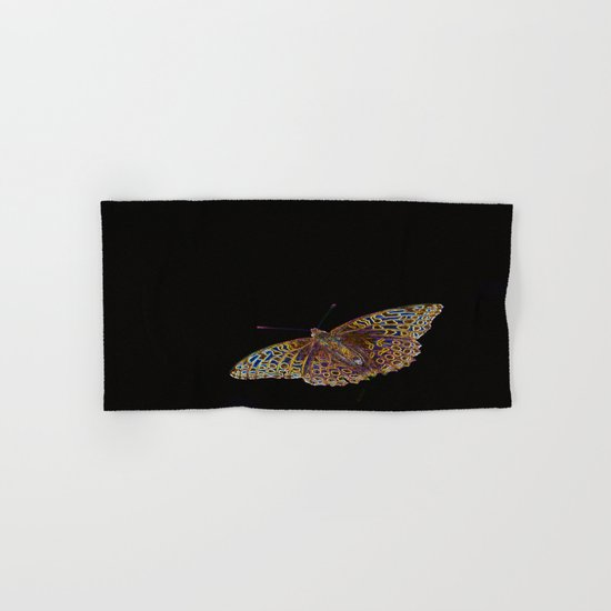 Butterfly on a black background Hand & Bath Towel
