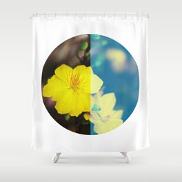 Vietnam Hoa Mai Yellow Apricot Blossom Lunar New Year Shower Curtain