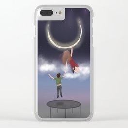 Trampoline dream Clear iPhone Case