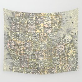 Vintage Map of Michigan (1901) Wall Tapestry