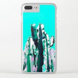 Majestic Cactus - Aqua Clear iPhone Case