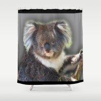 koala Shower Curtains featuring Koala by SwanniePhotoArt