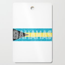 Bahamian National Flag Vintage Bahamas Distressed Gift Cutting Board