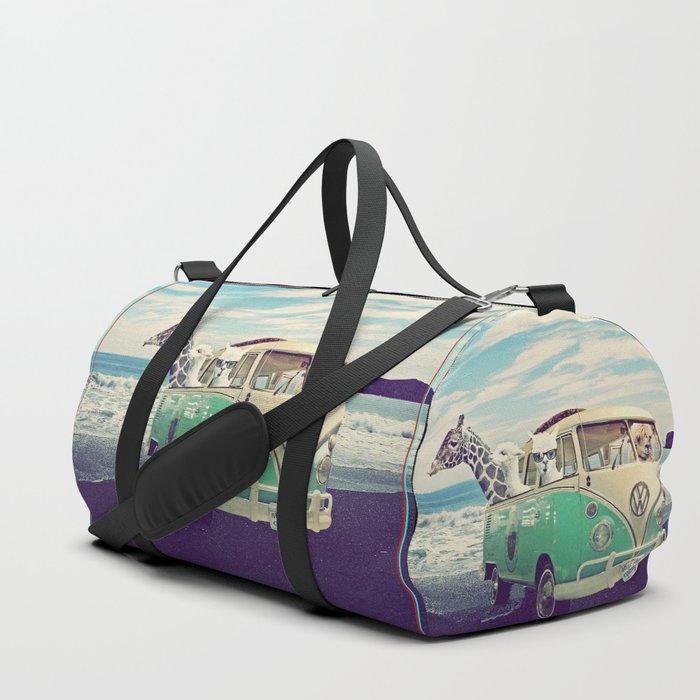 NEVER STOP EXPLORING THE BEACH Duffle Bag