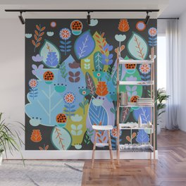 Midnight joyful inflorescence Wall Mural