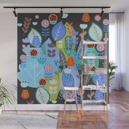 Midnight joyful inflorescence Wall Mural